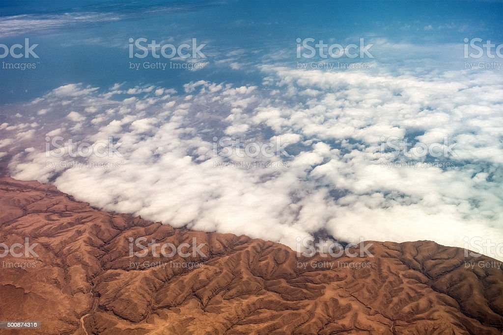 Rock Formations Seen From The Plane stock photo