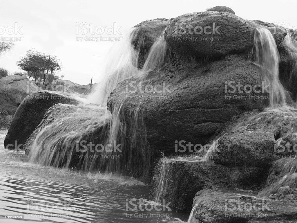 Rock fountain royalty-free stock photo