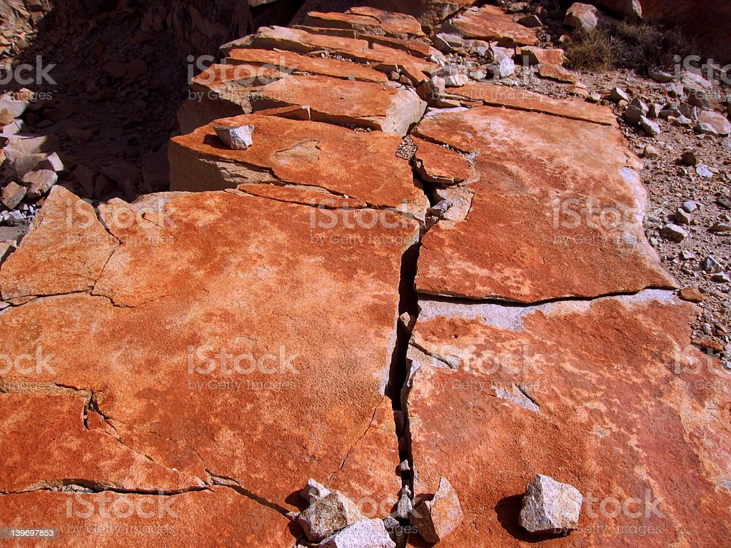 Rock Fracturing 001 royalty-free stock photo