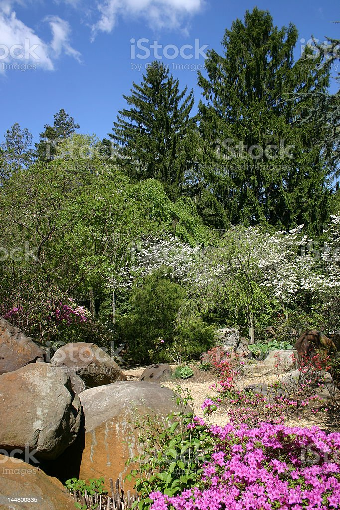 Rock Garden - Sayen Gardens royalty-free stock photo