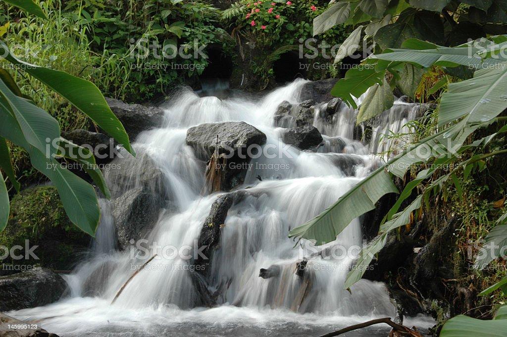 Rock Garden Waterfalls stock photo
