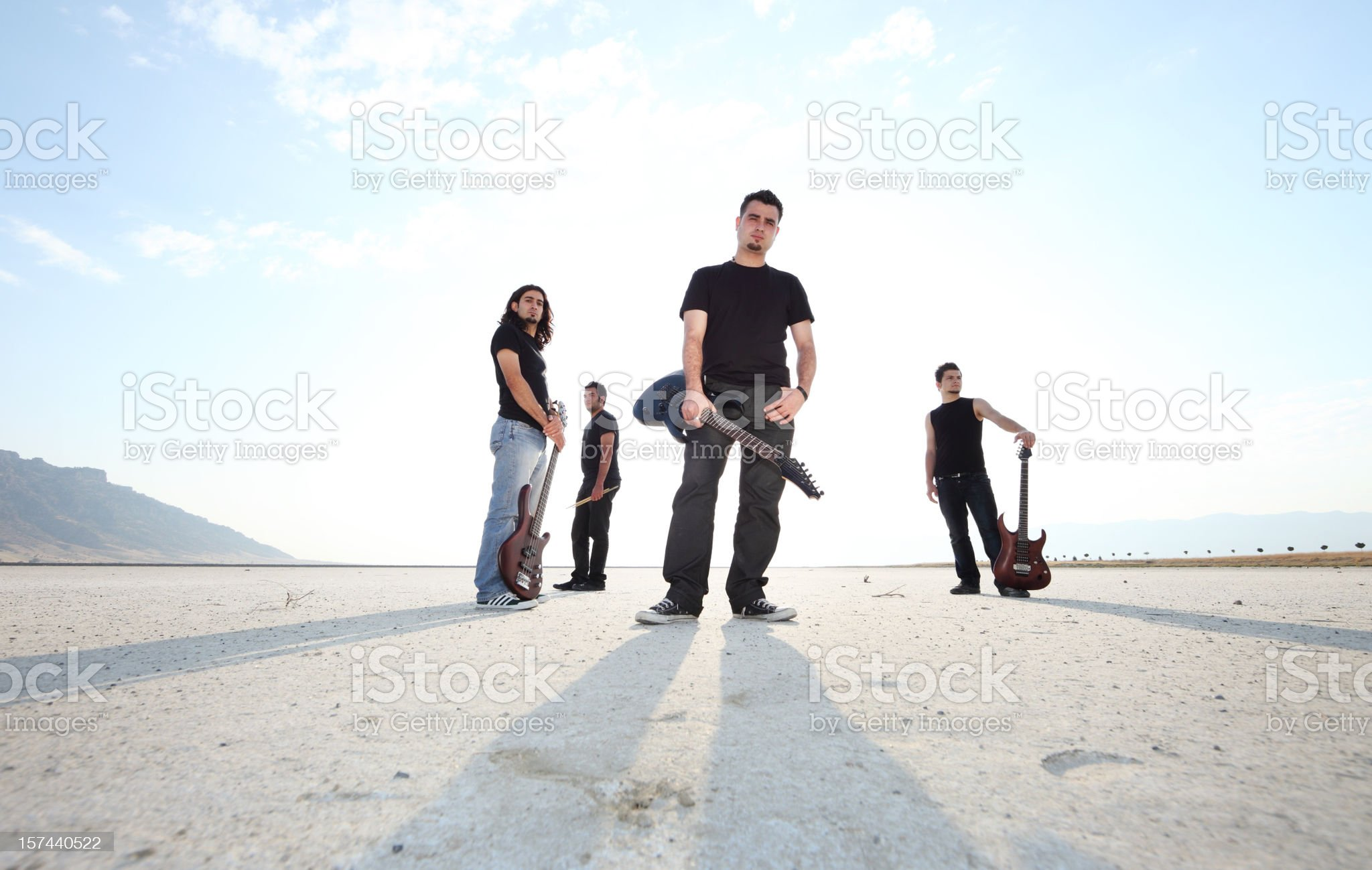 Rock Group royalty-free stock photo