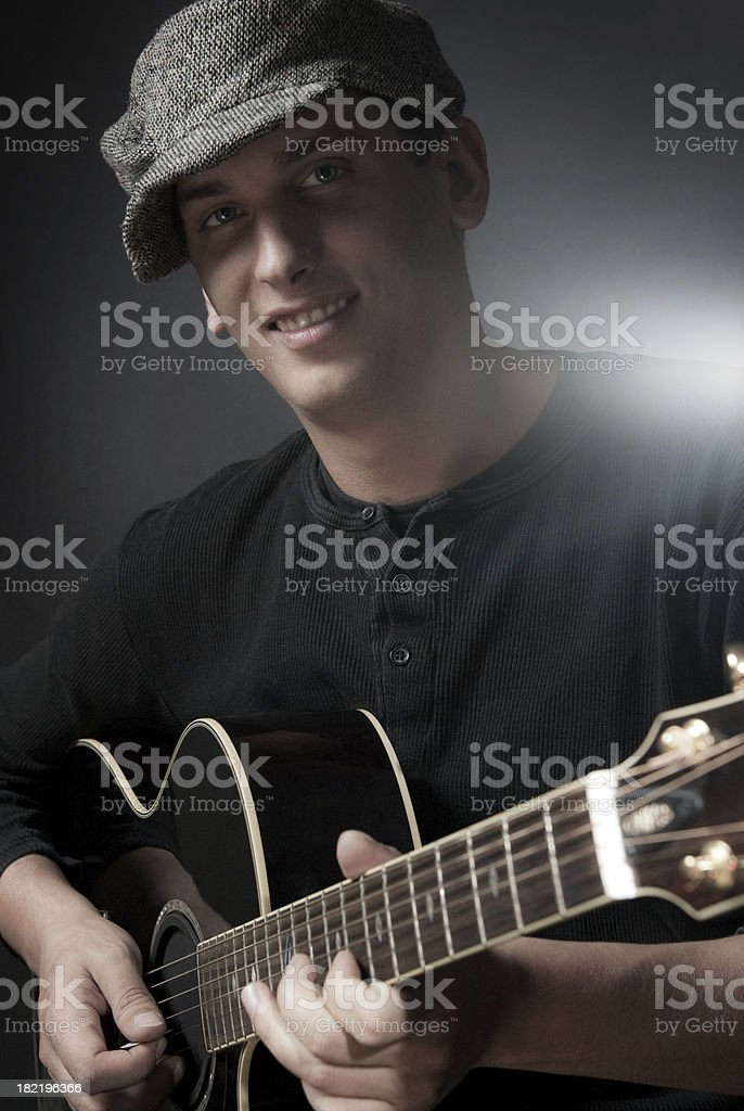 Rock guitarist royalty-free stock photo