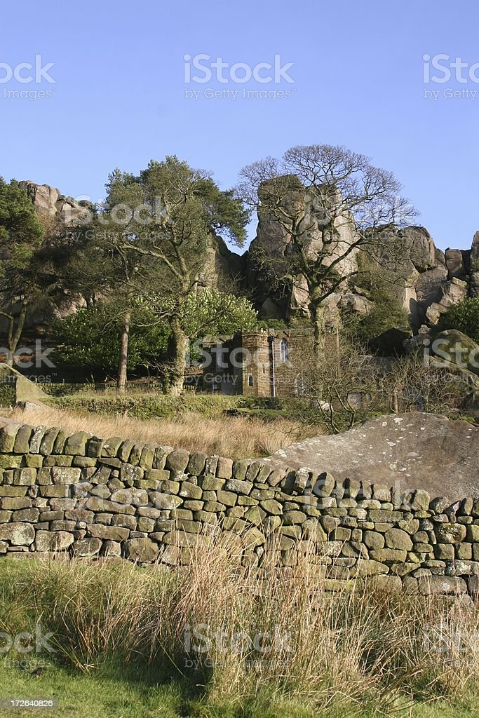 Rock Hall, The Roaches, Peak District National Park stock photo