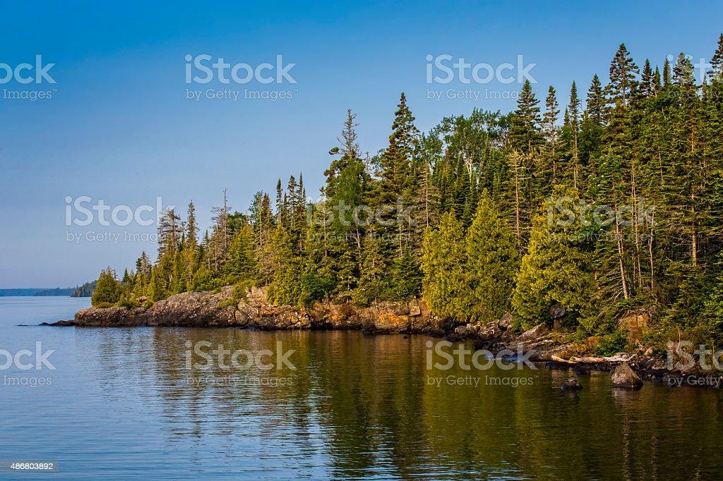 Rock Harbor, Parque Nacional de Isle Royale, Michigan, EUA foto royalty-free