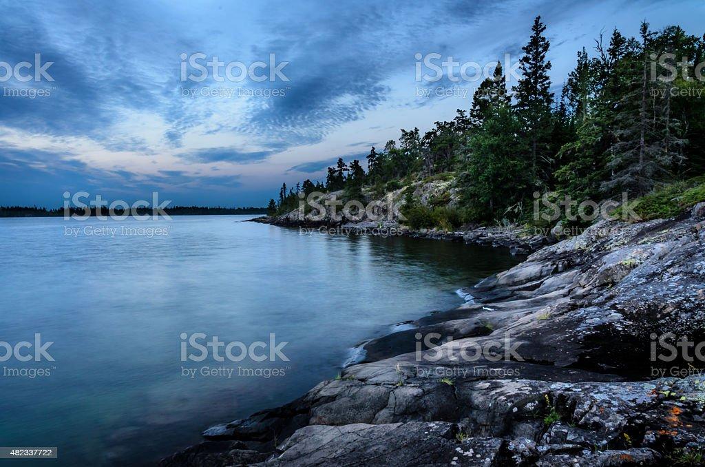 Rock Harbor stock photo