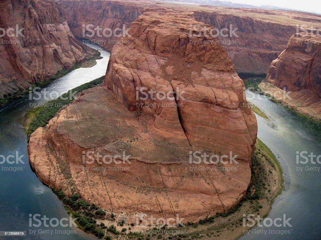 Rock-Horse shoe curva del río Colorado foto de stock libre de derechos
