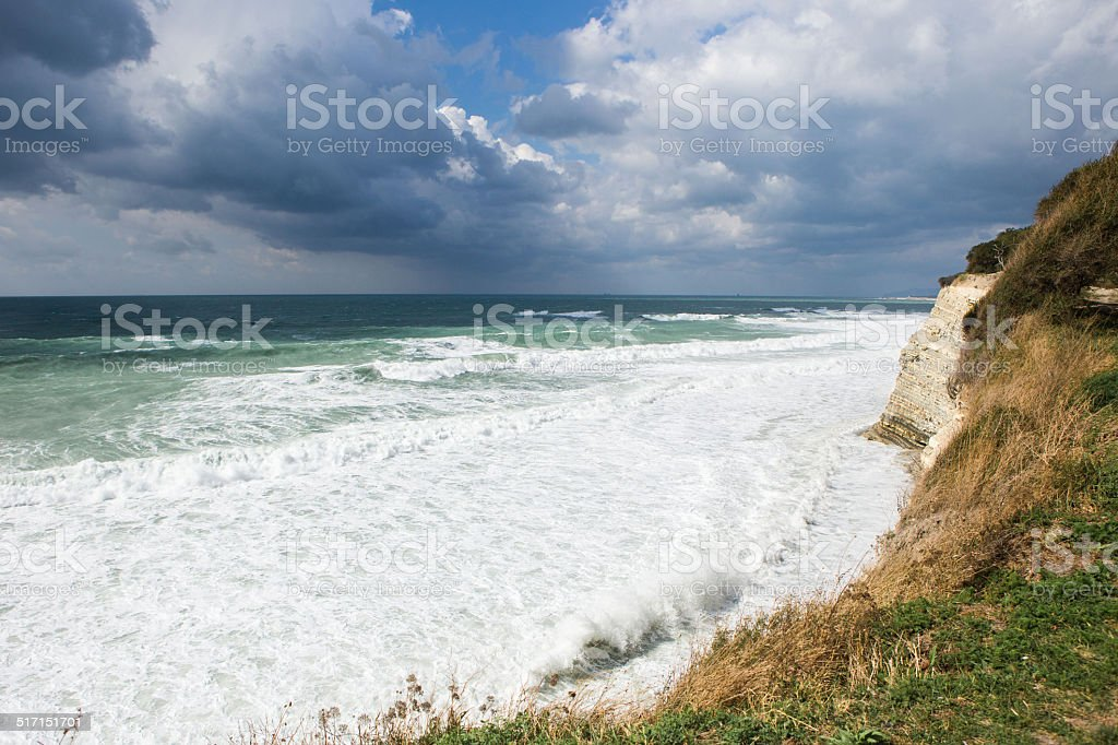 rock in a storm royalty-free stock photo