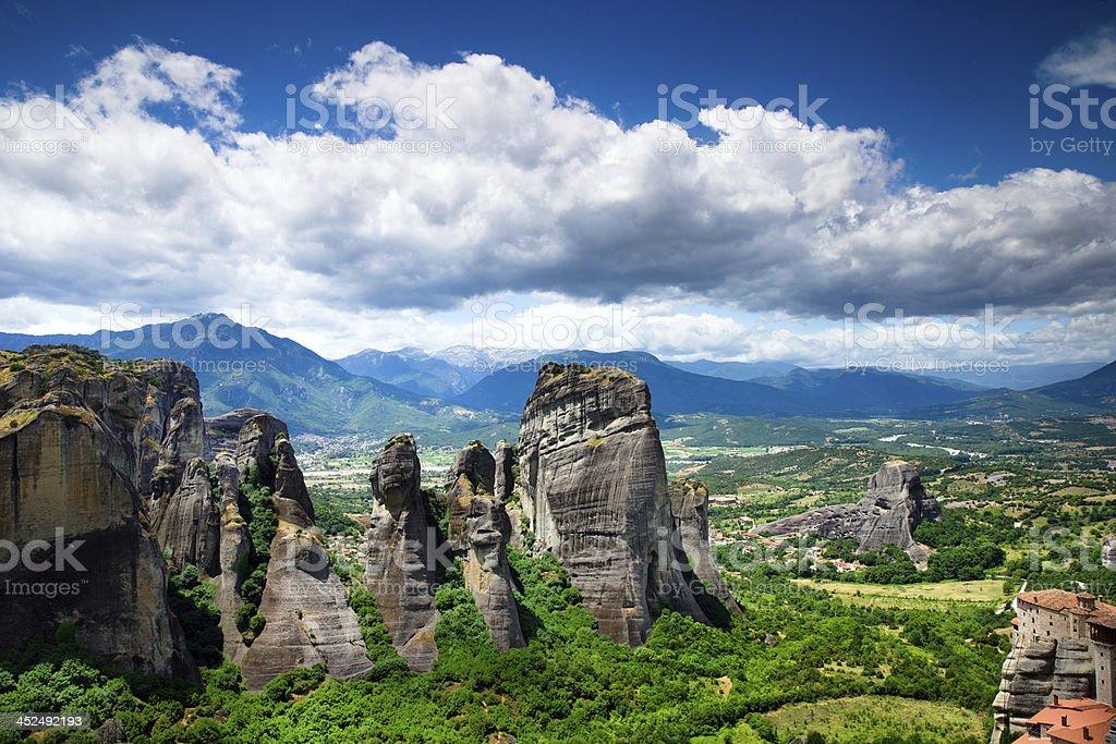 rock in Meteora, Greece stock photo