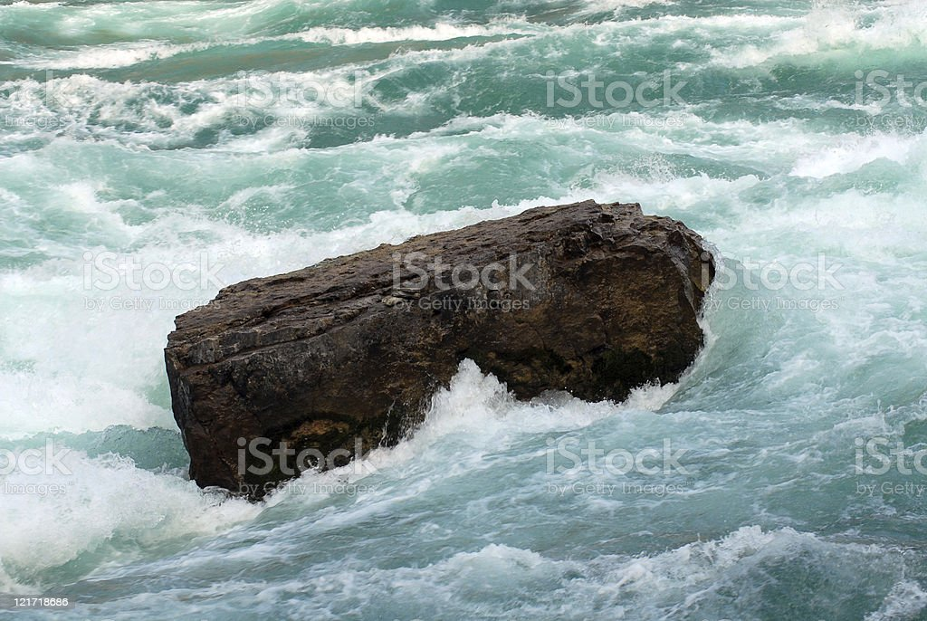 Rock in Rapids royalty-free stock photo