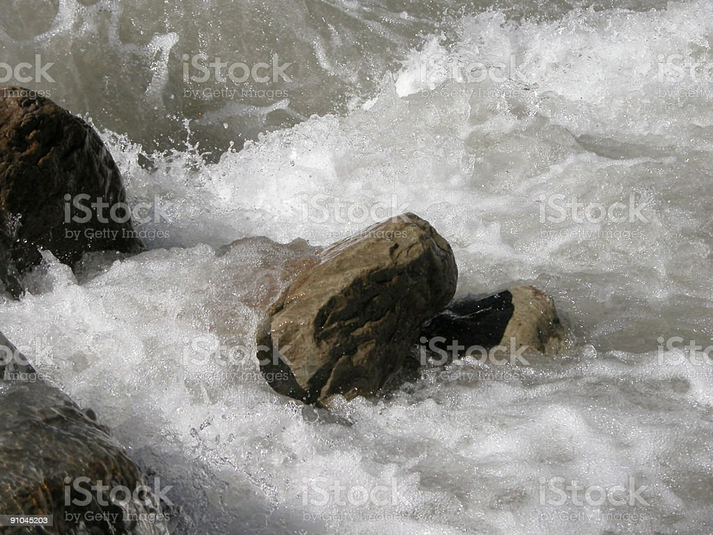 rock in river royalty-free stock photo