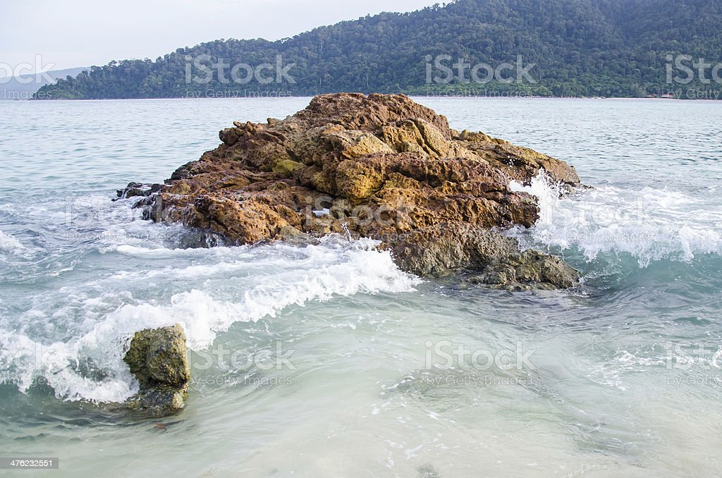 Rock in sea royalty-free stock photo