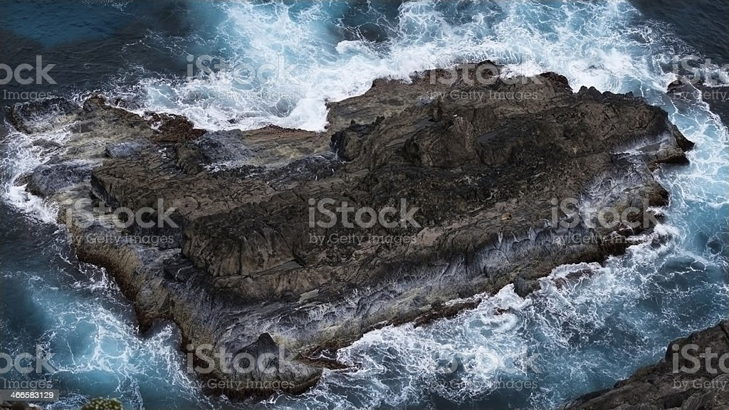 Rock in the Ocean royalty-free stock photo