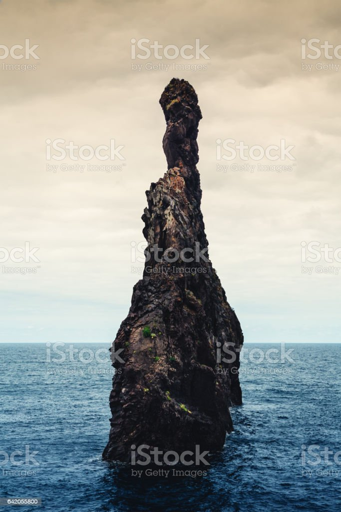 Rock In The Sea On Madeira stock photo