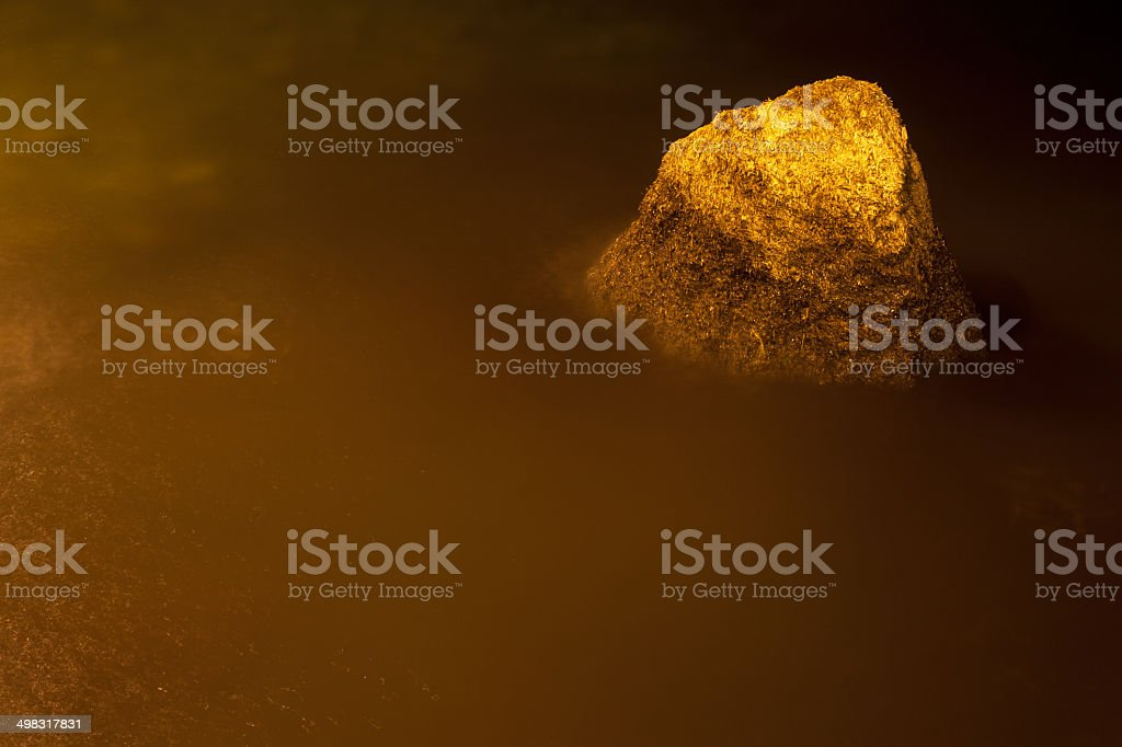 Rock in the sea stock photo