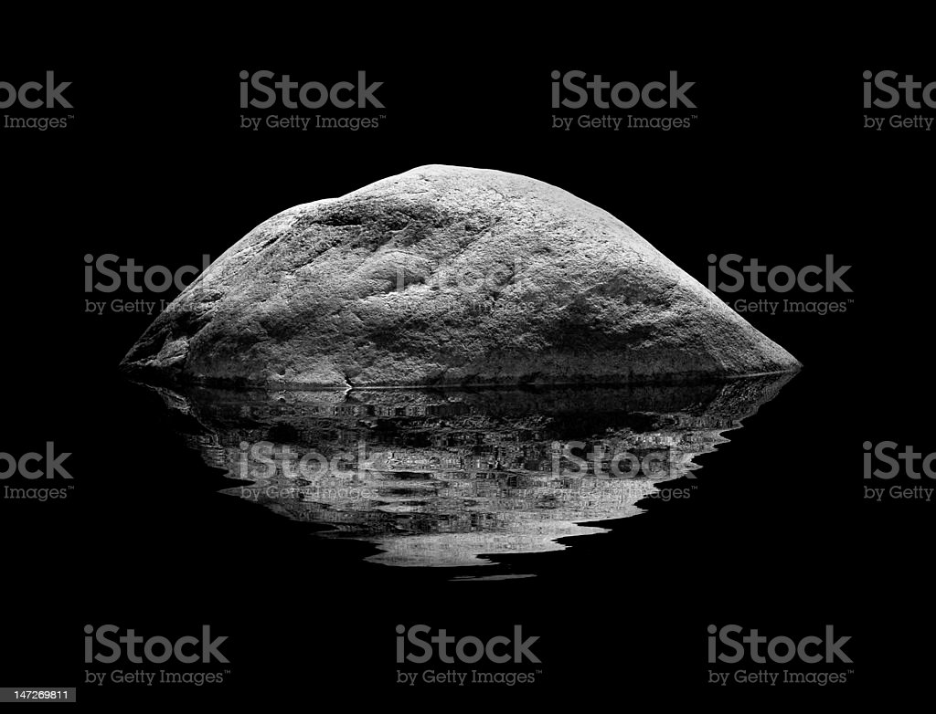 rock int the water royalty-free stock photo
