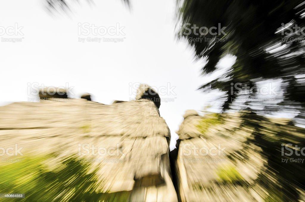 Rock ist das falling down Lizenzfreies stock-foto
