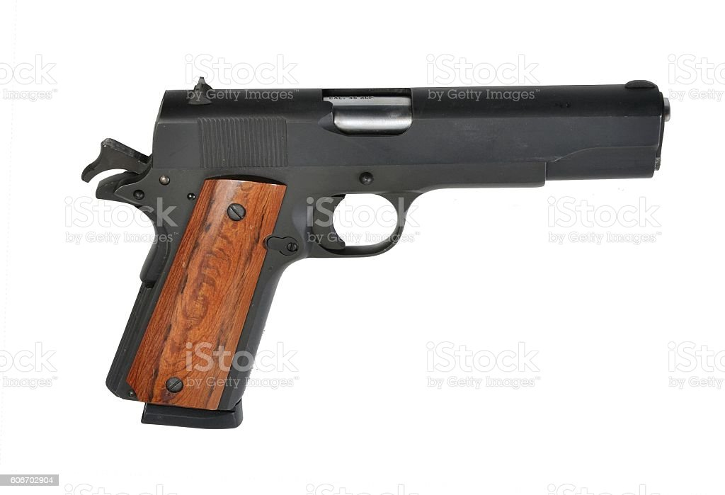 Rock Island Arms Model  1911 M1A Pistol stock photo