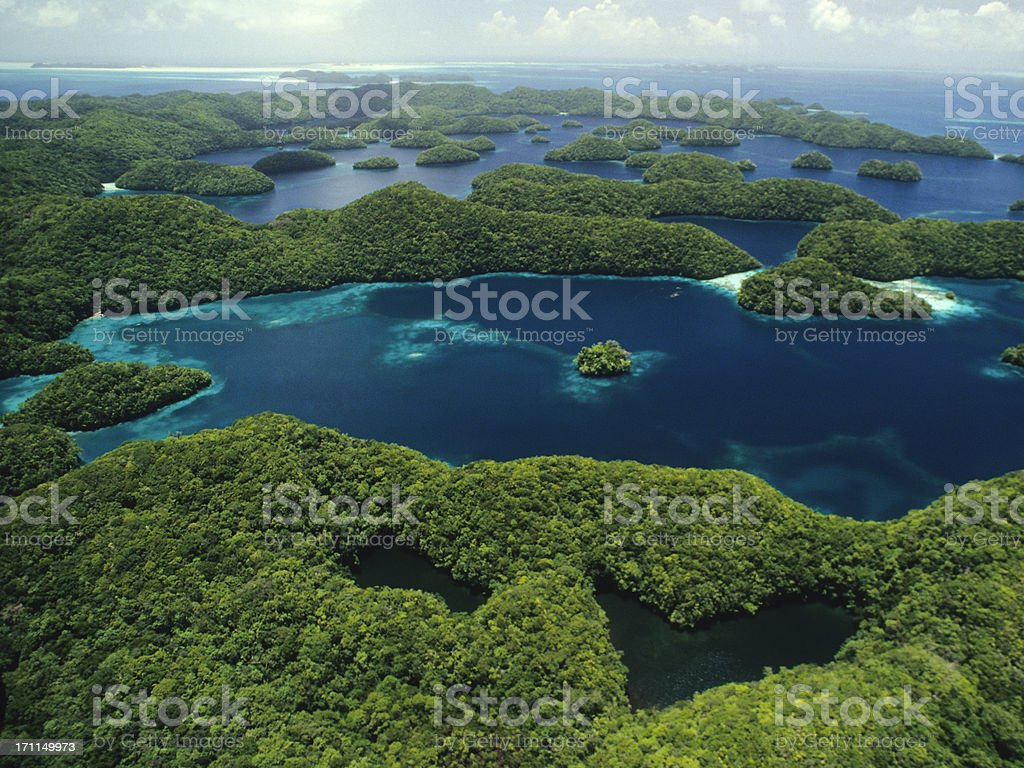 Rock Islands & Jellyfish Lake, Palau stock photo