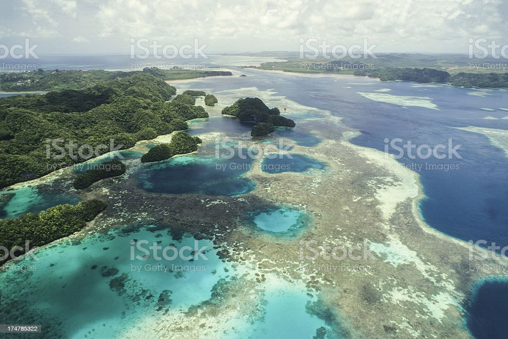 Rock Islands Of Palau stock photo