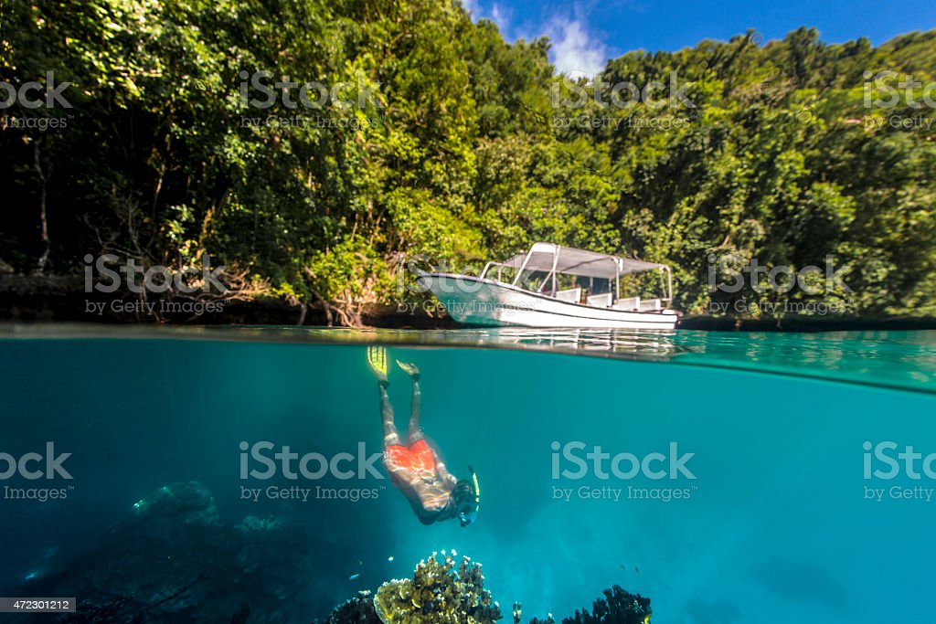 Rock Islands - Palau stock photo