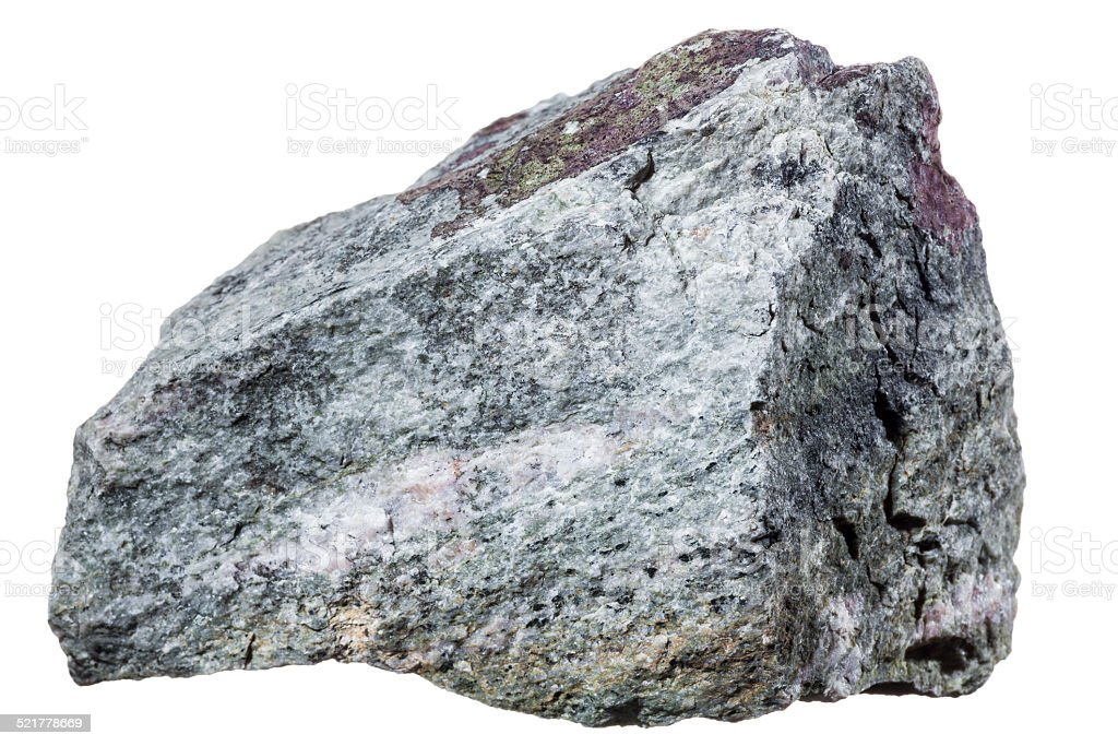 Rock isolated on white stock photo