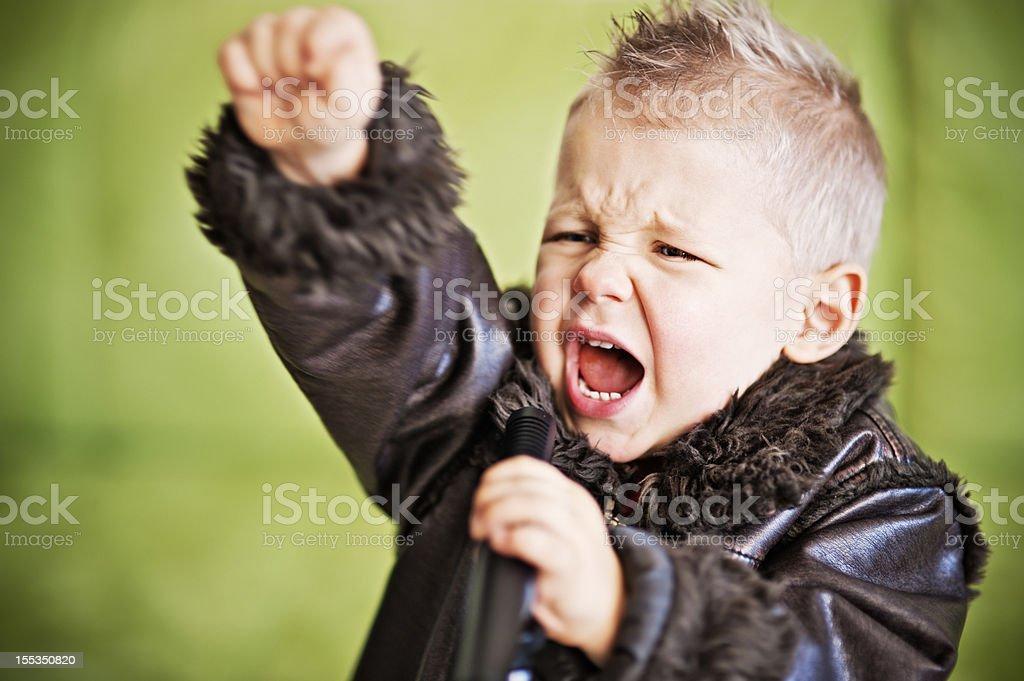 Rock kid royalty-free stock photo