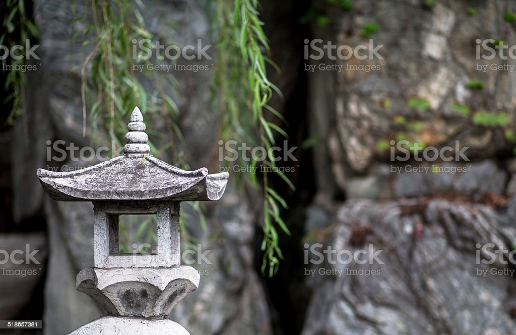 Rock lantern stock photo