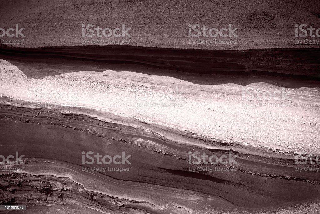 Rock Layer Detail stock photo