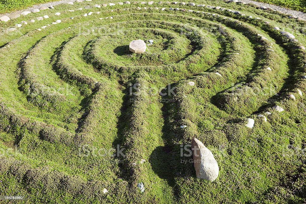 Rock Lined Thyme Labyrinth royalty-free stock photo