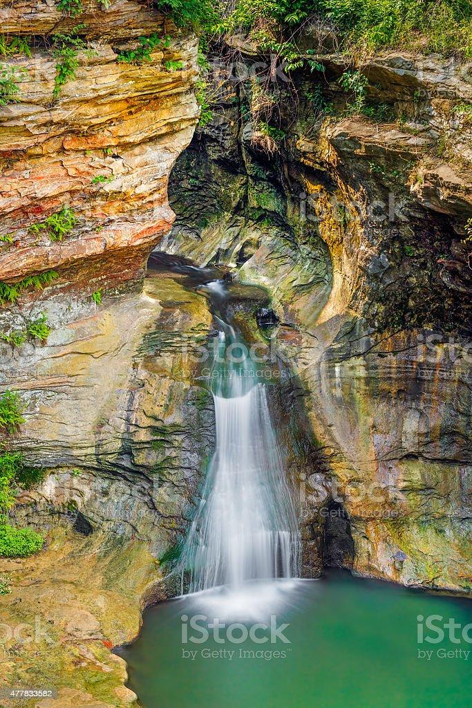 Rock Mill Falls stock photo
