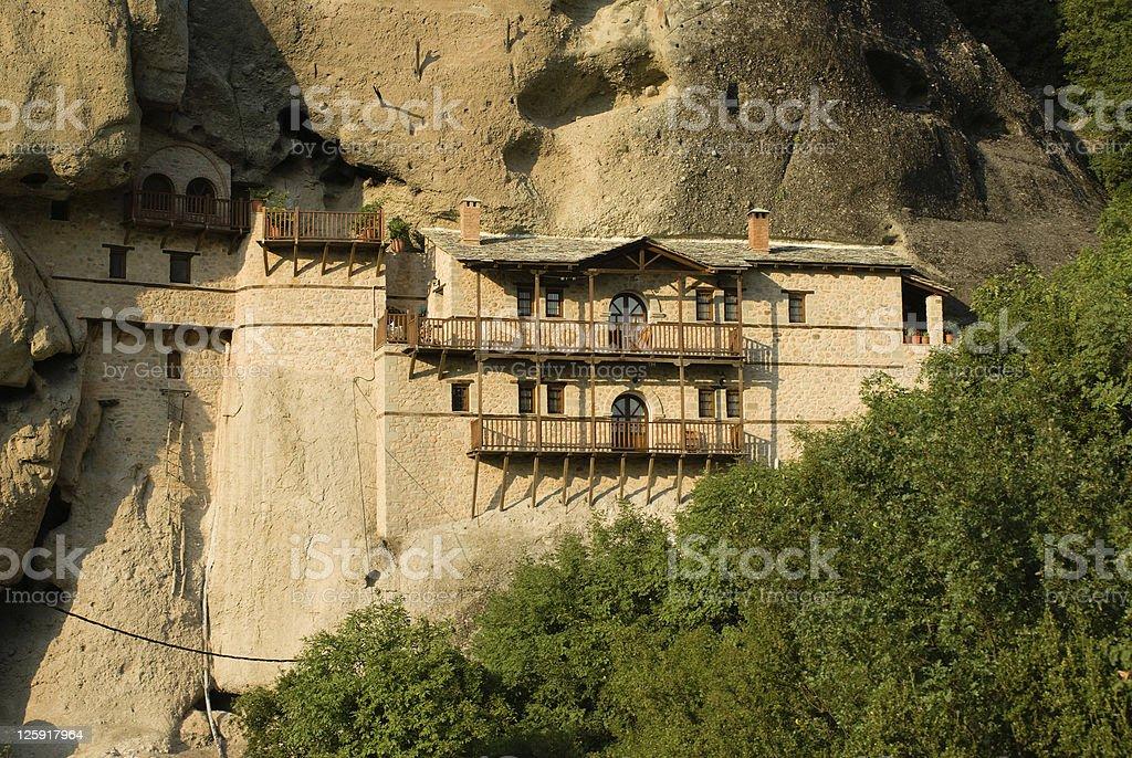 Rock monastery stock photo