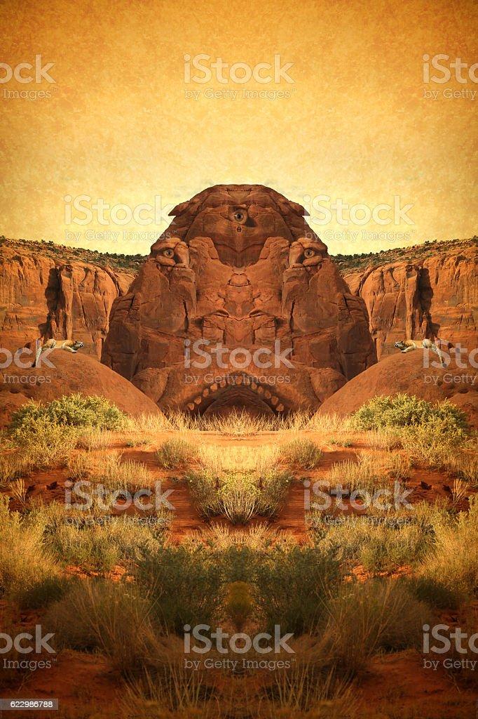Rock Monster stock photo