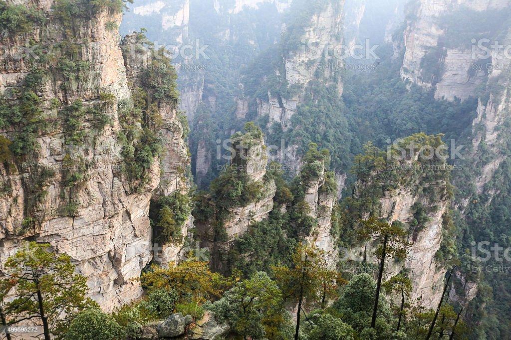 Rock Mountain in Zhangjiajie China stock photo