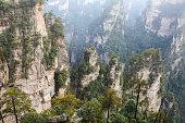 Rock Mountain in Zhangjiajie China