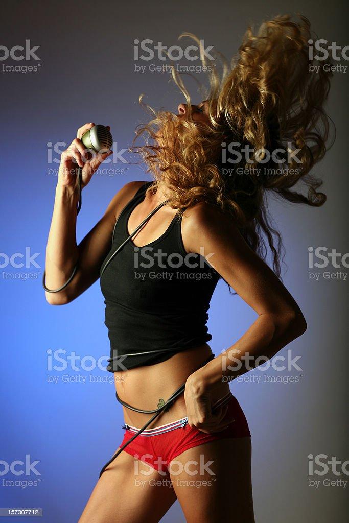 Rock Music Dancing Girl stock photo