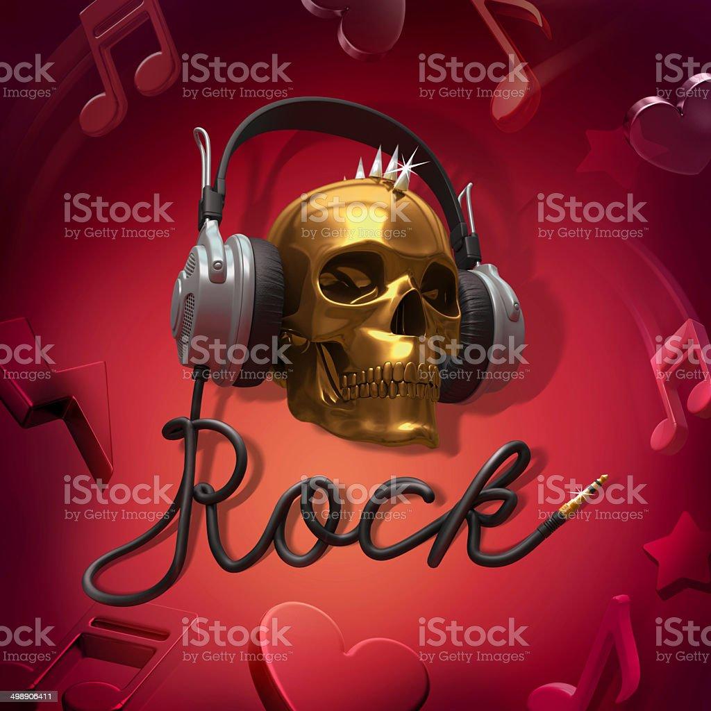 rock music headphones royalty-free stock photo