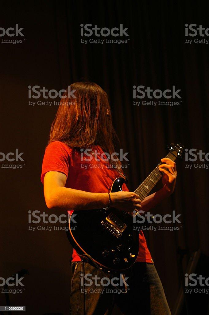 rock musican stock photo