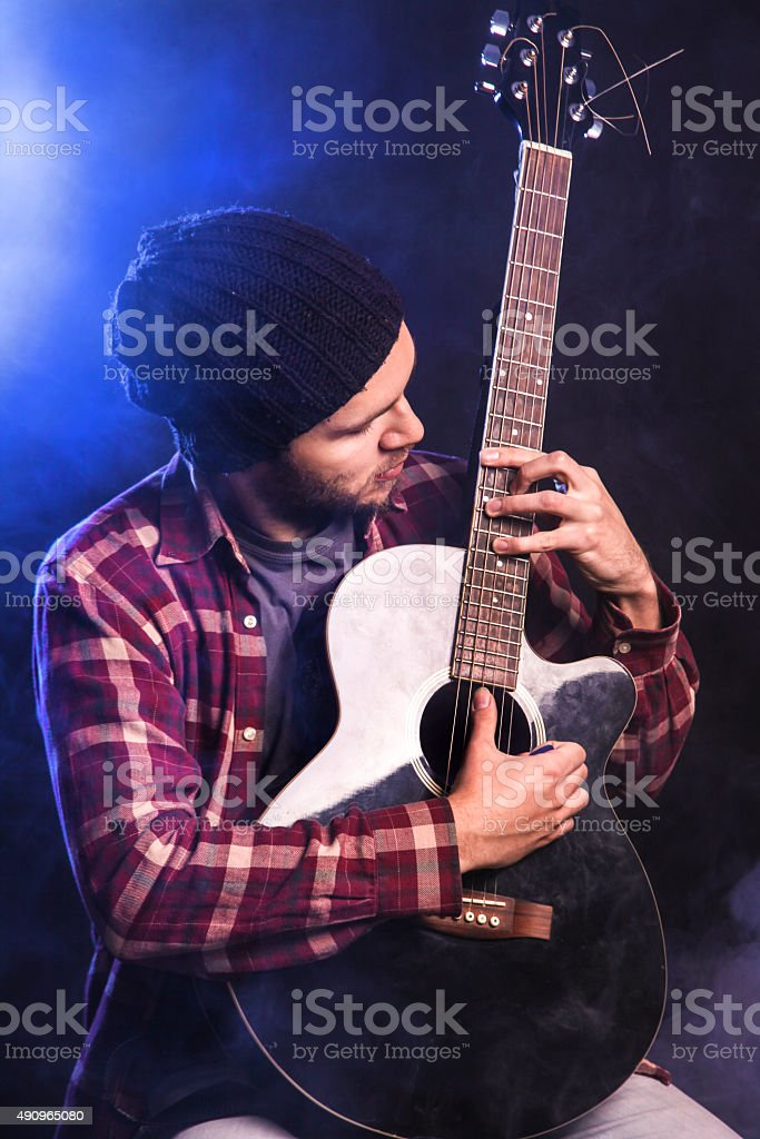 Rock musician stock photo