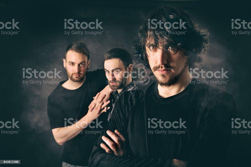 Rock Musicians having fun stock photo