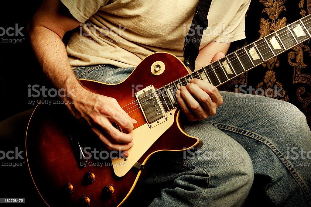 rock 'n' roll guitar stock photo