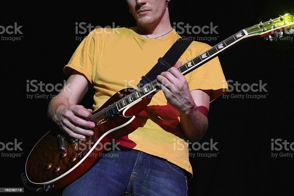 Rock n' Roll Guitarist royalty-free stock photo