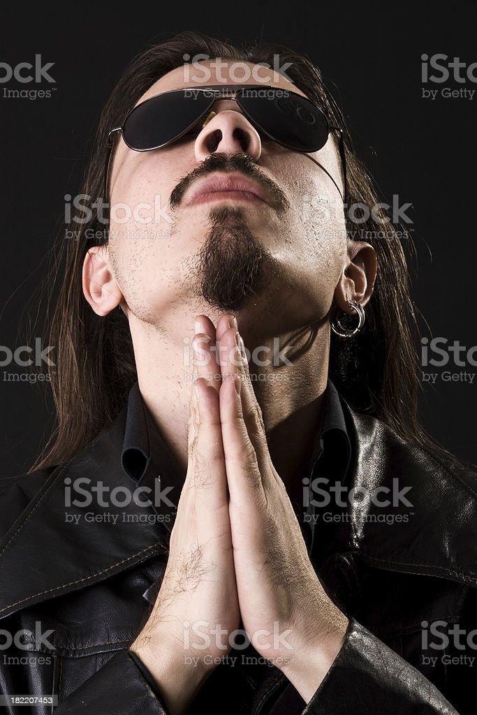 rock n roll prayer royalty-free stock photo
