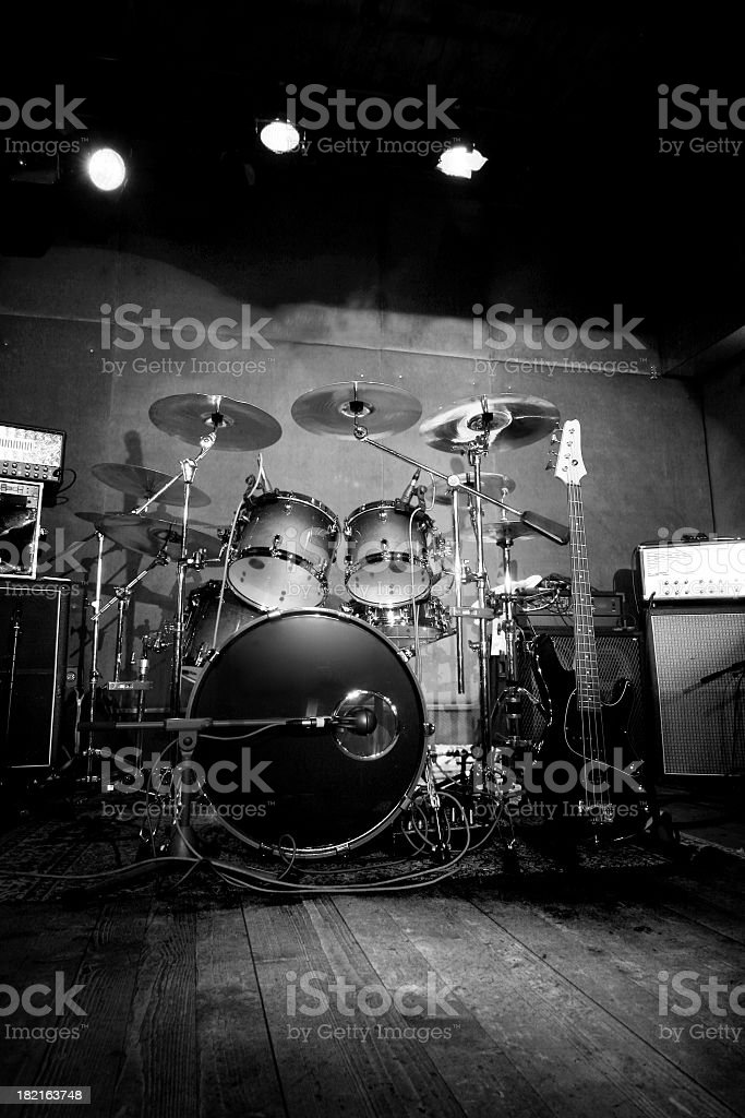 Rock n roll stage stock photo