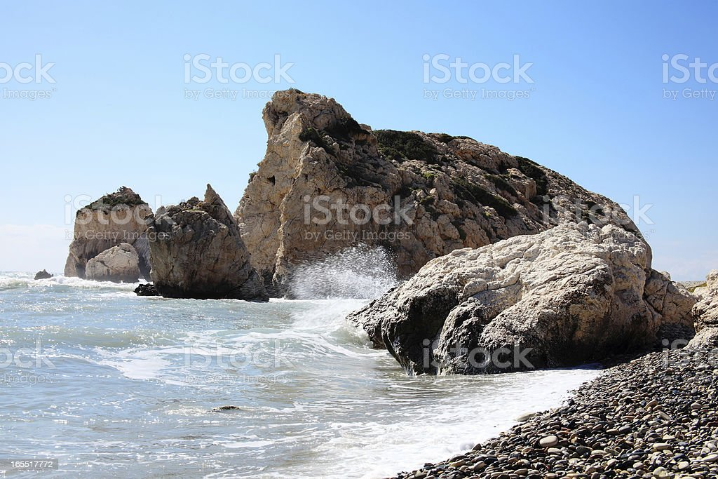 Rock of Aphrodite (Petra Tou Romiou) royalty-free stock photo