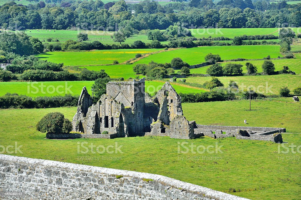 Rock of Cashel (Tipperary/Ireland) stock photo