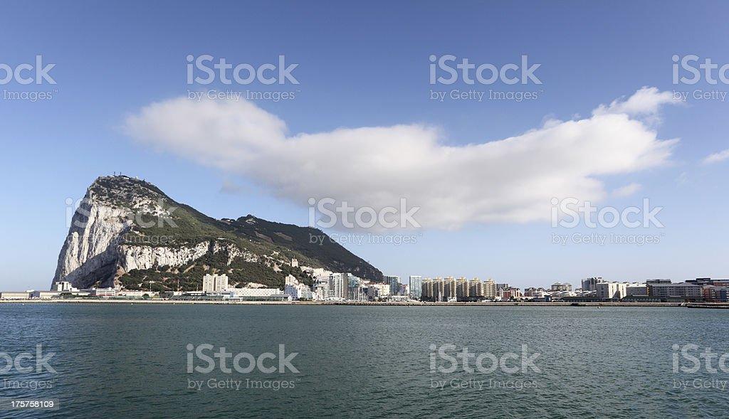 Rock of Gibraltar royalty-free stock photo