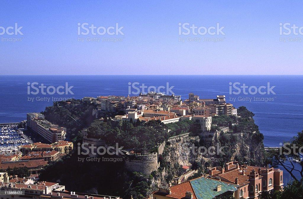 Rock of Monaco stock photo