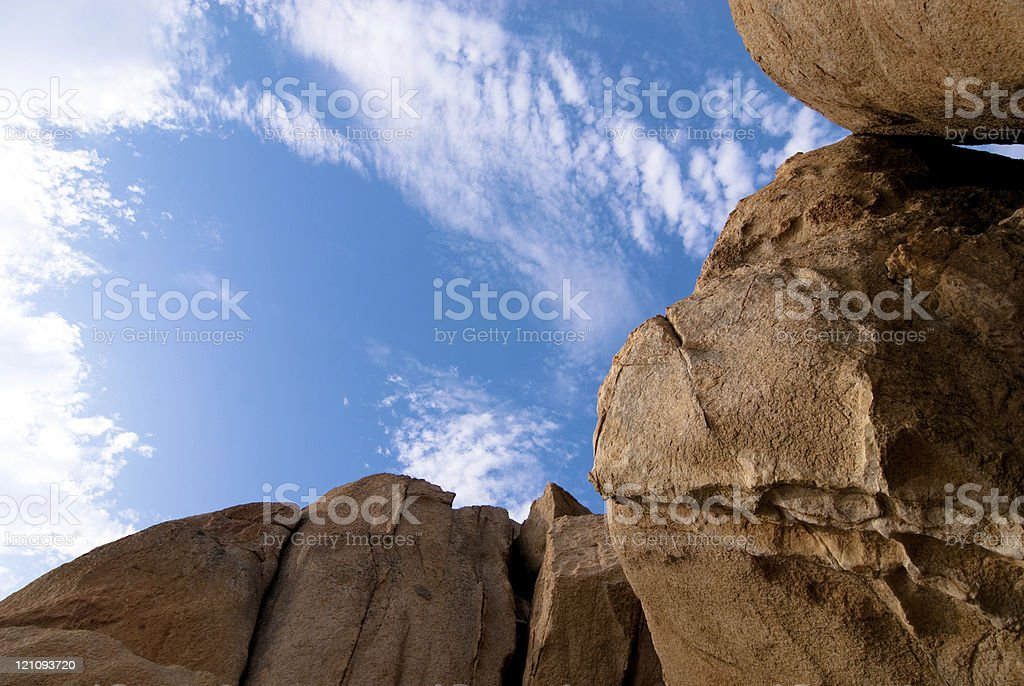rock on blue sky background royalty-free stock photo