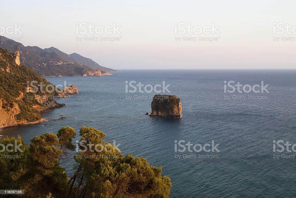 Rock on Corfu stock photo